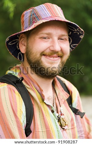 Tourist in Asia - stock photo