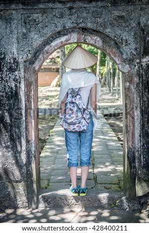 Tourist in Hoa Lu