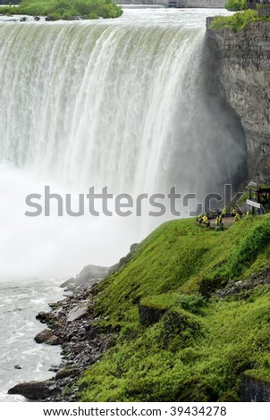 tourist lookout niagara falls Ontario - stock photo