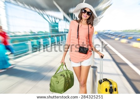 Tourist, Women, Luggage.