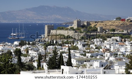 Touristic place Bodrum town in summer - Turkey