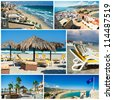 Touristic places of Spain,collage - stock photo