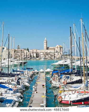 Touristic Port of Trani. Apulia.