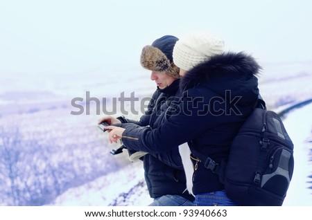 tourists - stock photo