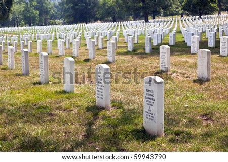 tourists in  the Memorial Amphitheater at Arlington National Cemetery - stock photo