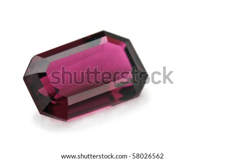 tourmaline Jewel isolated against a white background - stock photo