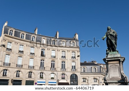 Tourny statue located at Tourny square at Bordeaux, France - stock photo