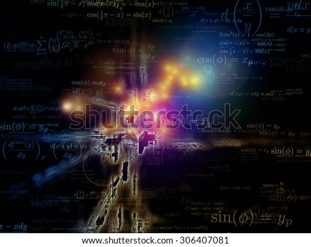 Toward Technology series. Interplay of light trails and fractal structures on the subject of science, education and technology - stock photo