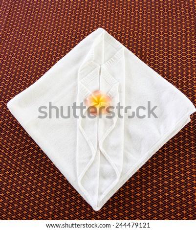 towel decoration of Spa salon - stock photo