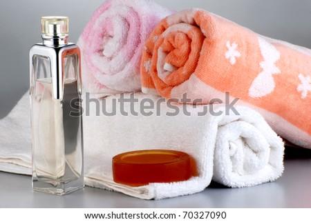 towel group - stock photo