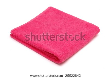 towel isolated at white background - stock photo