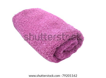Towel on a white background