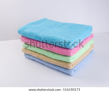 towel or bath towel on a background