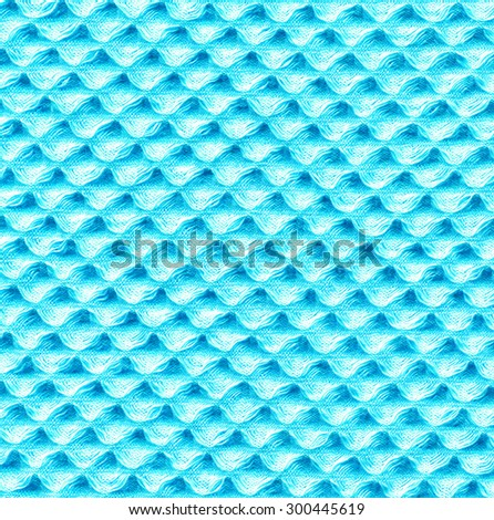 Towel Texture. Light Blue Azure Textile Pattern - stock photo