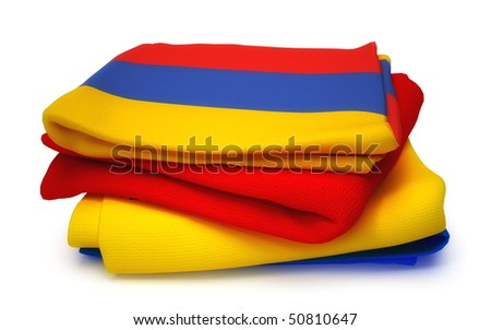 Towel with Armenian flag