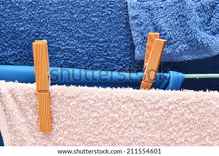 towels drying - stock photo