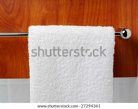Towels hanging in a bathroom. Towels Bathroom Hanging Stock Photos  Royalty Free Images