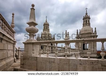Tower bell of Saint Vicente de Fora Monastery, Lisbon, Portugal - stock photo