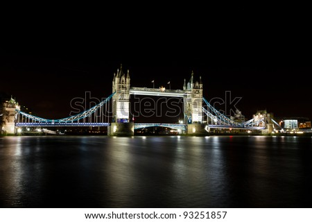 Tower Bridge across the River Thames, London