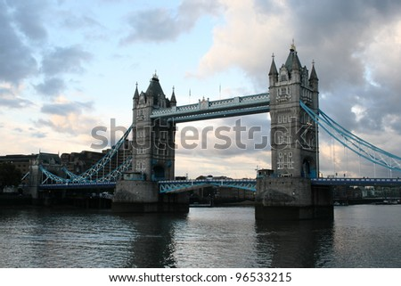 Tower Bridge at sunset - stock photo