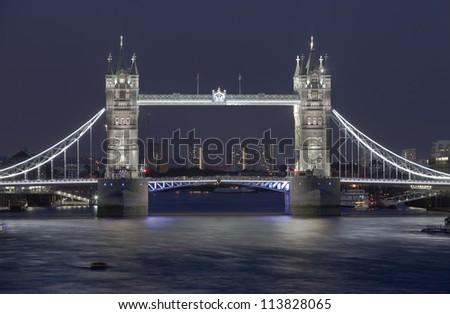 Tower Bridge at Sunset, London, England - stock photo