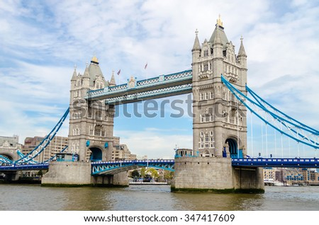 Tower Bridge, Historical Landmark in London, UK - stock photo