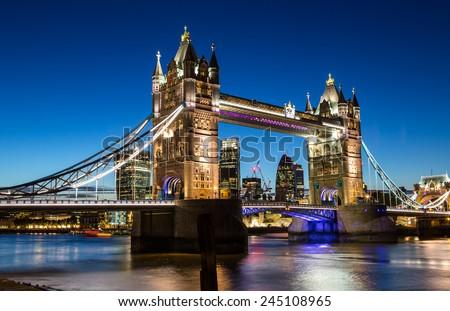 Tower Bridge in London - stock photo