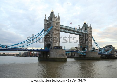 Tower Bridge in London daytime - stock photo