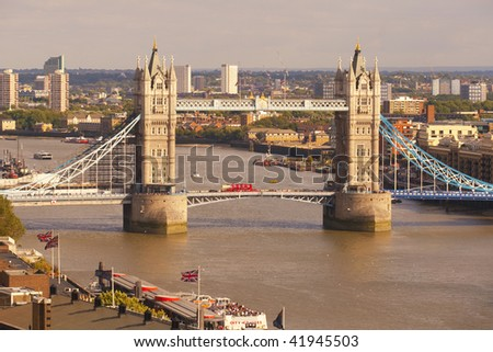 Tower Bridge in London, Great Britain - stock photo
