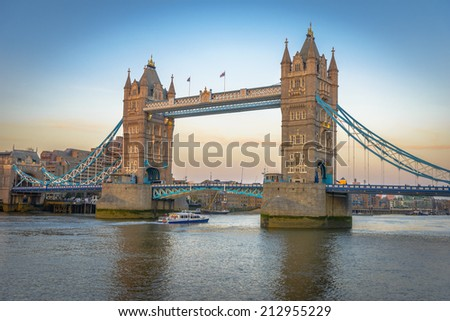 Tower Bridge is a bridge in London. It crosses the River Thames near the Tower of London.
