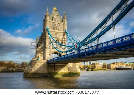 Tower Bridge, London, River Thames - stock photo
