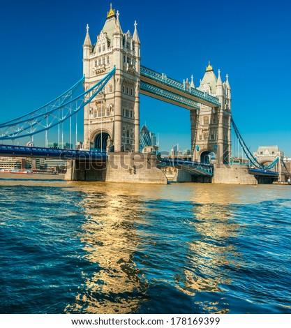 Tower Bridge, London, UK - stock photo