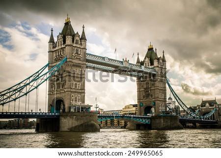 Tower Bridge London, UK - stock photo