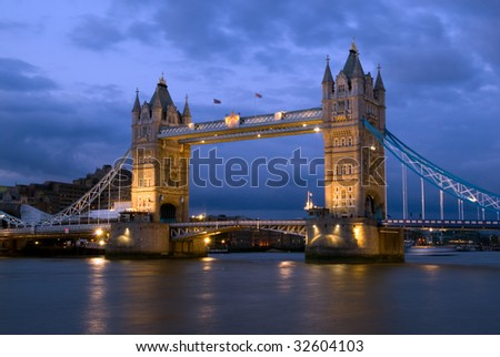 Tower Bridge of London, England
