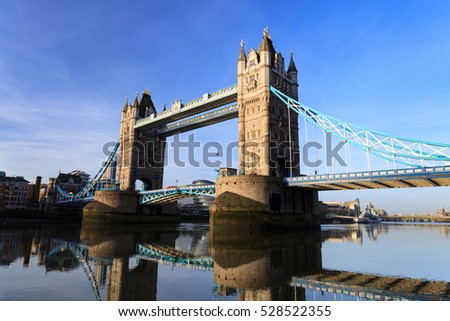 Tower Bridge on Sunny Day ,London United Kingdom