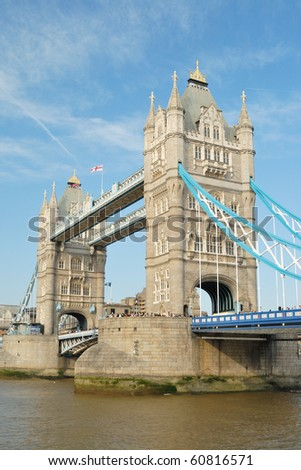 Tower Bridge on the River Thames - stock photo