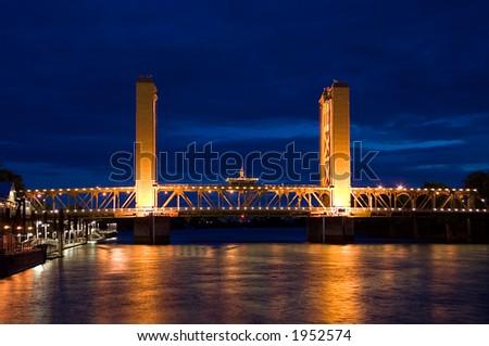 Tower Bridge Sacramento - stock photo