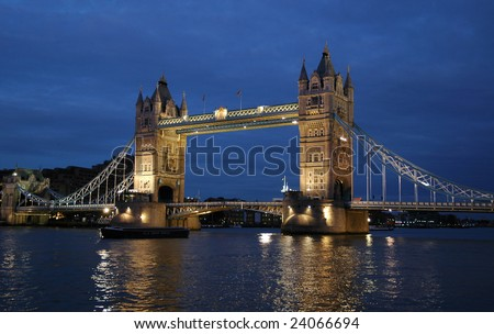 Tower Bridge summer night