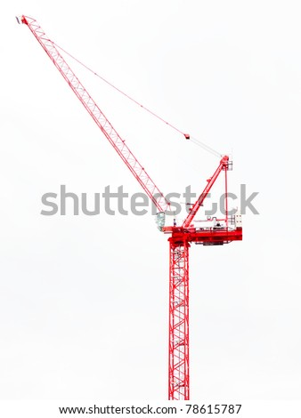 Tower construction crane - stock photo
