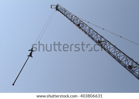Tower Crane in Construction site - stock photo