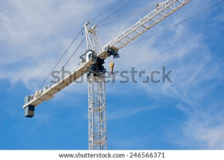 Tower crane use for construction - stock photo
