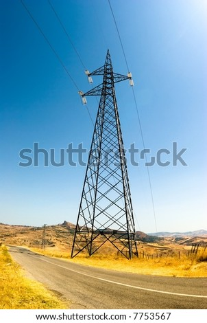 Tower electricity - stock photo