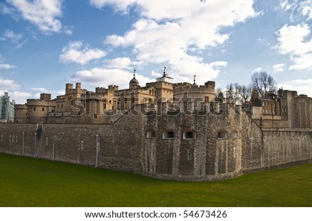 tower in London - stock photo