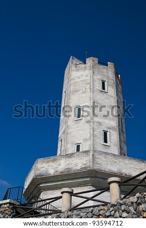 Tower in the castle. - stock photo