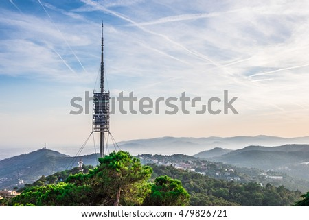 Tower in the city of Barcelona, Spain