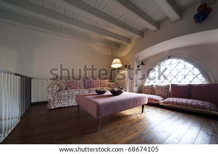 tower, luxury residential apartments, loft - stock photo