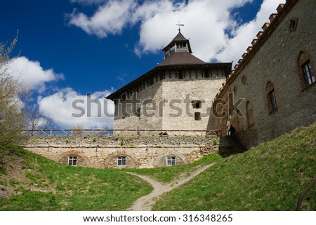 Tower of a medieval castle, Western Ukraine, Medzhibozh