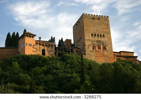 Tower of Alhambra - stock photo