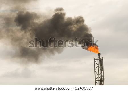 tower of an fpso oil production rig in offshore area. - stock photo