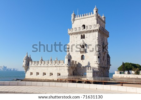 Tower of Belem (Torre de Belem), Lisbon, Portugal - stock photo